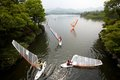 Windsurfing school in westlake hangzhou city of china Stock Photo