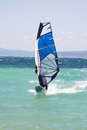 Windsurfing windsurfer on summer holidays in the blue ocean Royalty Free Stock Photography