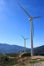 Windturbines in andalusia spanje Royalty-vrije Stock Afbeelding