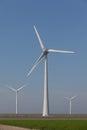 Windturbines producing alternative energy Royalty Free Stock Photo