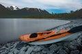 Windy Arm Tagish Lake kayak scenery Yukon Canada Royalty Free Stock Photo