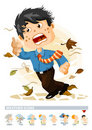 Windy or Autumn. Weather Icon Royalty Free Stock Image