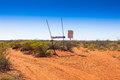 Windy corner junction in outback western australia Stock Photo