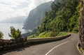 Windy road on Madeira Royalty Free Stock Photo