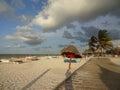 Windy Sunset at Progreso Beach Royalty Free Stock Photo