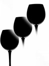 Wine abstract background glassware design Stock Images