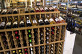 Wine alcohol grocery store lots of alcohols for sale in a small at the pike place market in seattle usa Royalty Free Stock Photos