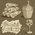 Wine background illustration on the theme of this illustration may be useful as designer work Royalty Free Stock Photos