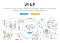 Wine Banner for Website Banner and Landing Page Royalty Free Stock Photo