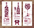 Wine bar menu card.... Royalty Free Stock Photo