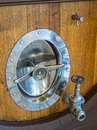 Wine barrel hardware Royalty Free Stock Photo