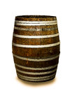 Wine barrel isolated on white background Stock Photography