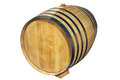 Wine barrel over white background Stock Photography