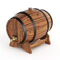 Wine barrel very high resolution rendering of a Royalty Free Stock Photography