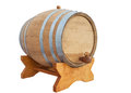 Wine barrel on white background Royalty Free Stock Photo
