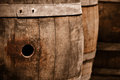 Wine Barrels in Cellar Stock Photos