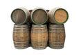 Wine barrels isolated Royalty Free Stock Photo