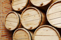 Wine barrels in a old wine cellar Royalty Free Stock Image