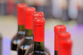 Wine bootle bottles of corked red crusts Stock Images