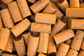 Wine bottle corks pattern texture background Stock Photos