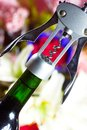 Wine bottle opener macro close up of Stock Photos