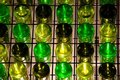 Wine Bottle Wall Matrix Stock Photo