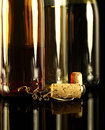 Wine bottles in black Royalty Free Stock Photography