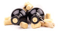 Wine bottles and corks Stock Photography