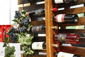 Wine bottles displayed for sale Stock Photography