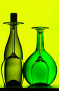 Wine bottles and glasses Stock Image