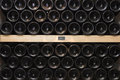 Wine bottles in Cellar Royalty Free Stock Photo