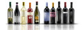 Wine bottles selection of of doc Stock Images
