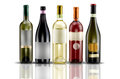 Wine bottles selection of of doc Stock Photo