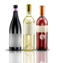 Wine bottles selection of of doc Stock Image