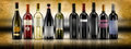 Wine bottles selection of of doc Royalty Free Stock Photography