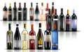 Wine bottles selection of of doc Royalty Free Stock Images