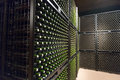 Wine  bottles in winery cellar Royalty Free Stock Photo