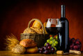 Wine and Bread Royalty Free Stock Photo