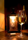 Wine in Candle Light Stock Photo