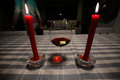 Wine and candles Royalty Free Stock Photo