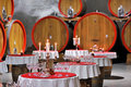 Wine cellar celebration Royalty Free Stock Image