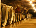 Wine cellar old barrels in a Stock Photography