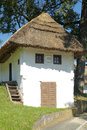 Wine cellars thatched with straw typical for the southeastern austria Royalty Free Stock Photos
