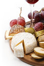 Wine with cheese and fruits Royalty Free Stock Image