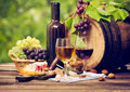 Royalty Free Stock Image Wine and cheese