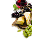 Wine and cheese Royalty Free Stock Photo