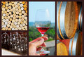 Wine collage beautiful set of images Stock Images