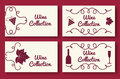 Wine collection card template set Royalty Free Stock Photo