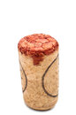 Wine cork isolated on a white background Royalty Free Stock Photography