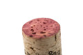Wine cork isolated on a white background Stock Photo